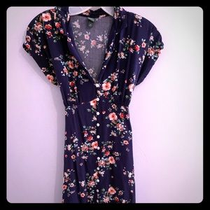 Wild Fable Navy Blue Floral Dress